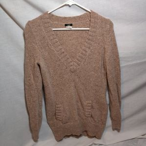 J.Crew Deep V Neck W/Front Pockets Sweater Size S